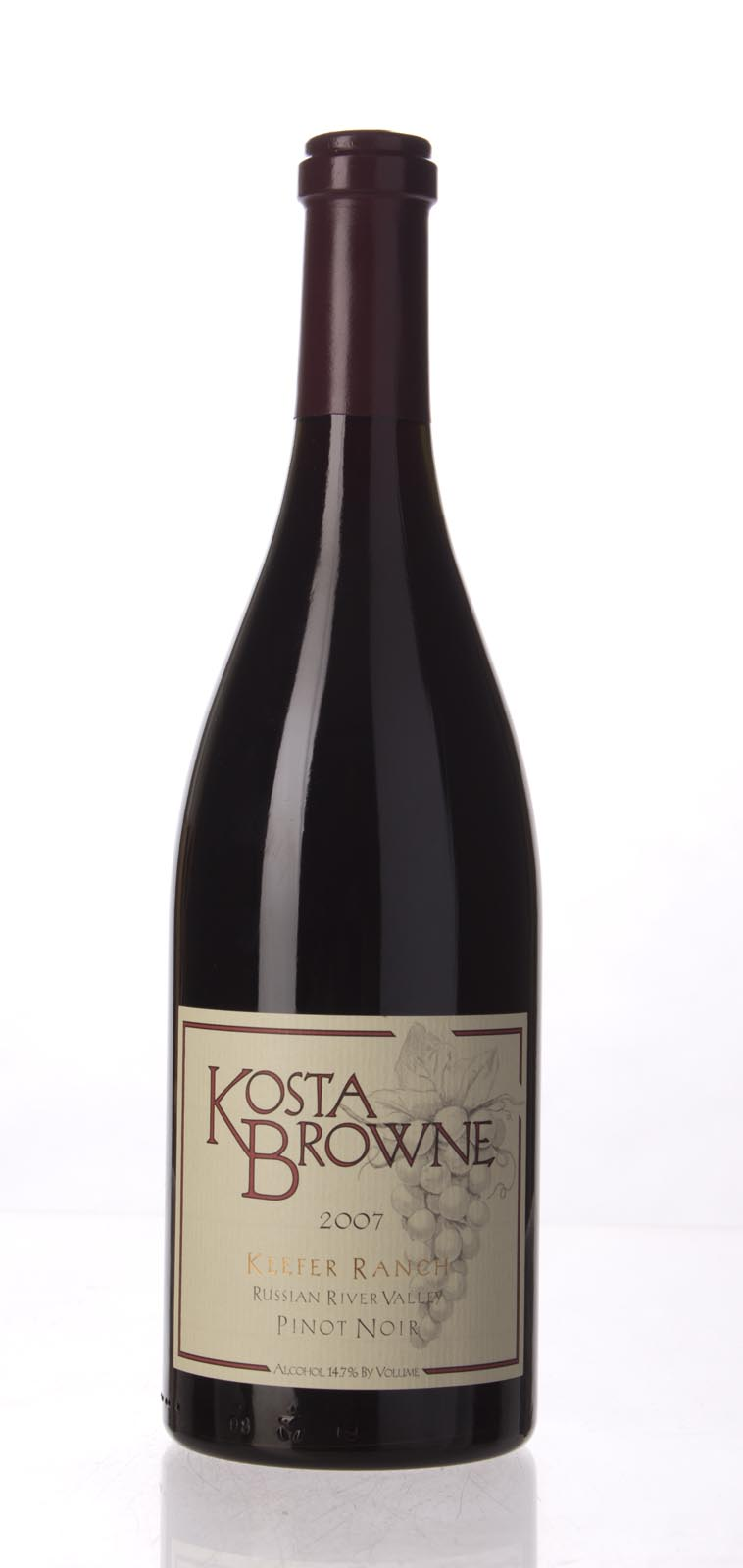 Kosta Browne Pinot Noir Keefer Ranch 2007, 750mL (ST93, WS95) from The BPW - Merchants of rare and fine wines.