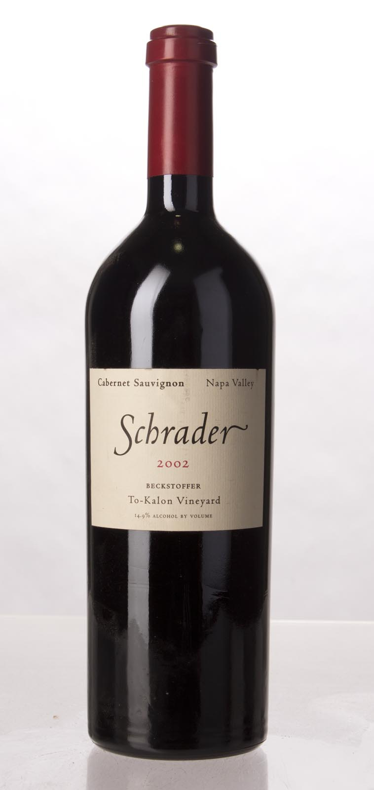 Schrader Cellars Cabernet Sauvignon Beckstoffer To Kalon Vineyard 2002, 750mL (WA98+, WS96) from The BPW - Merchants of rare and fine wines.