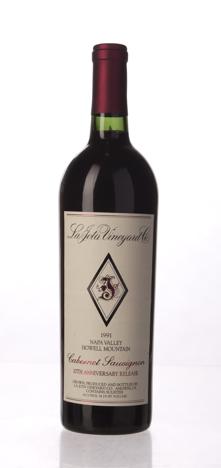La Jota Cabernet Sauvignon Anniversary Release 1991, 750mL (WA94) from The BPW - Merchants of rare and fine wines.