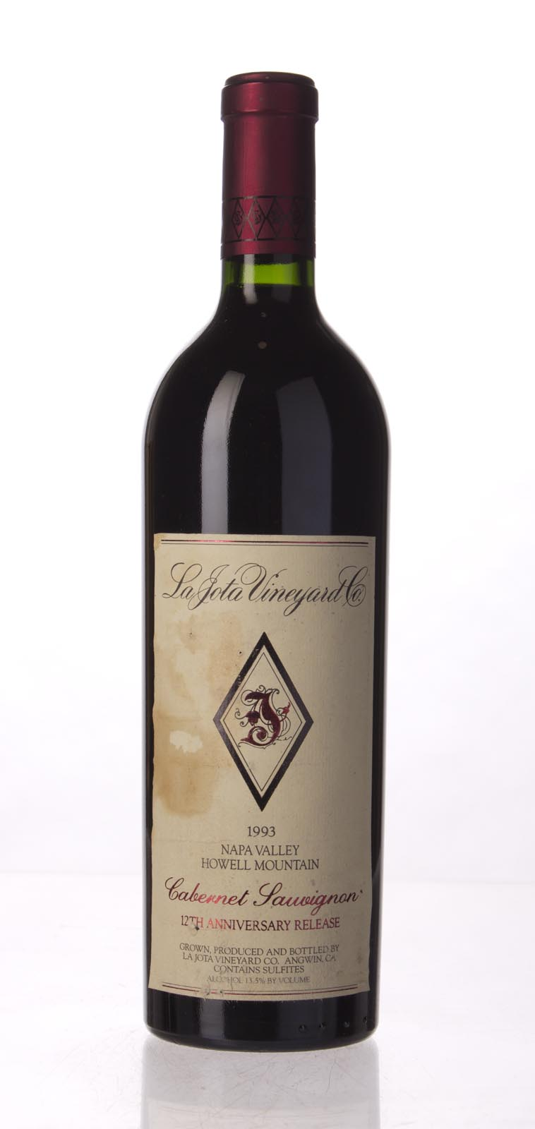 La Jota Cabernet Sauvignon Anniversary Release 1993, 750mL (WA96) from The BPW - Merchants of rare and fine wines.