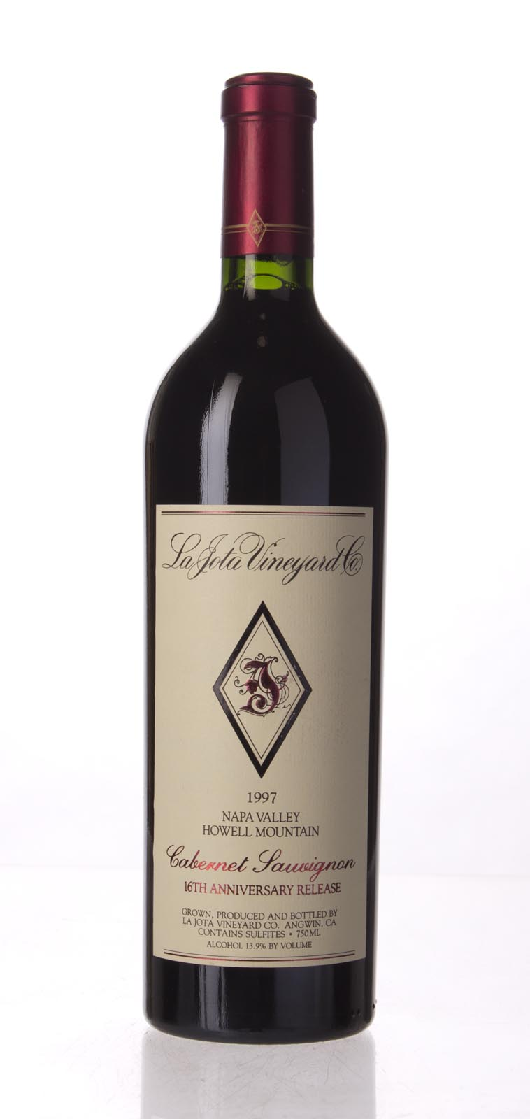 La Jota Cabernet Sauvignon Anniversary Release 1997, 750mL (WA93, WS91) from The BPW - Merchants of rare and fine wines.