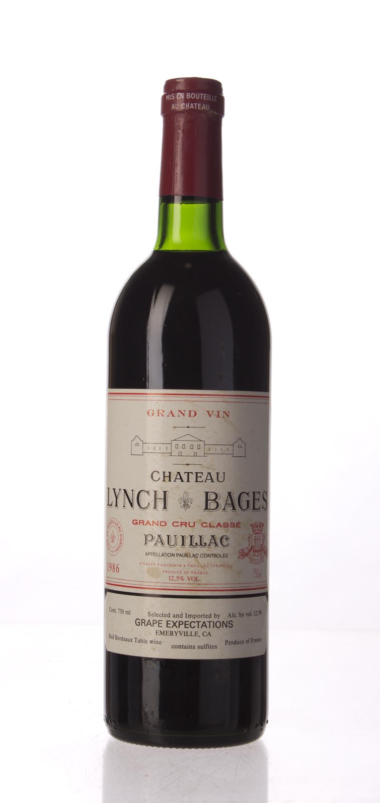 Lynch Bages 1986, 750mL (WA94, ST93, WS94) from The BPW - Merchants of rare and fine wines.