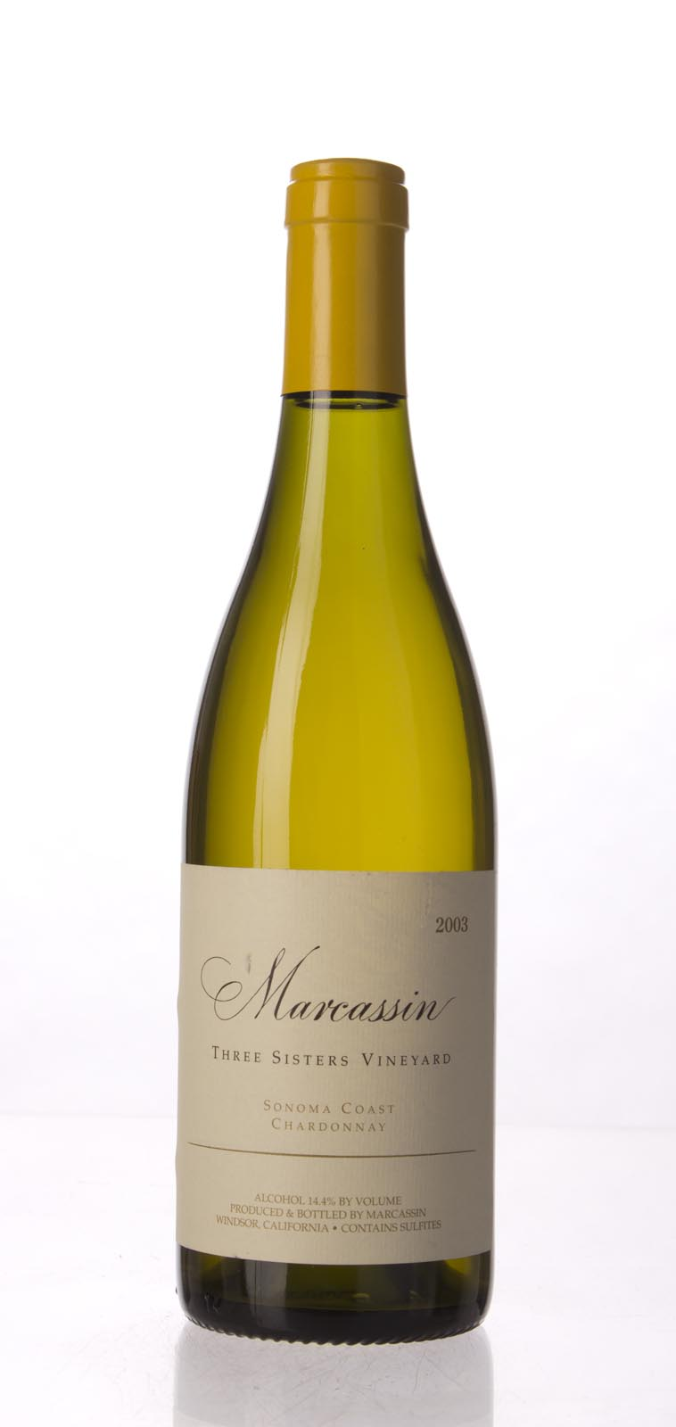 Marcassin Chardonnay Three Sisters Vineyard 2003, 750mL (WA96) from The BPW - Merchants of rare and fine wines.