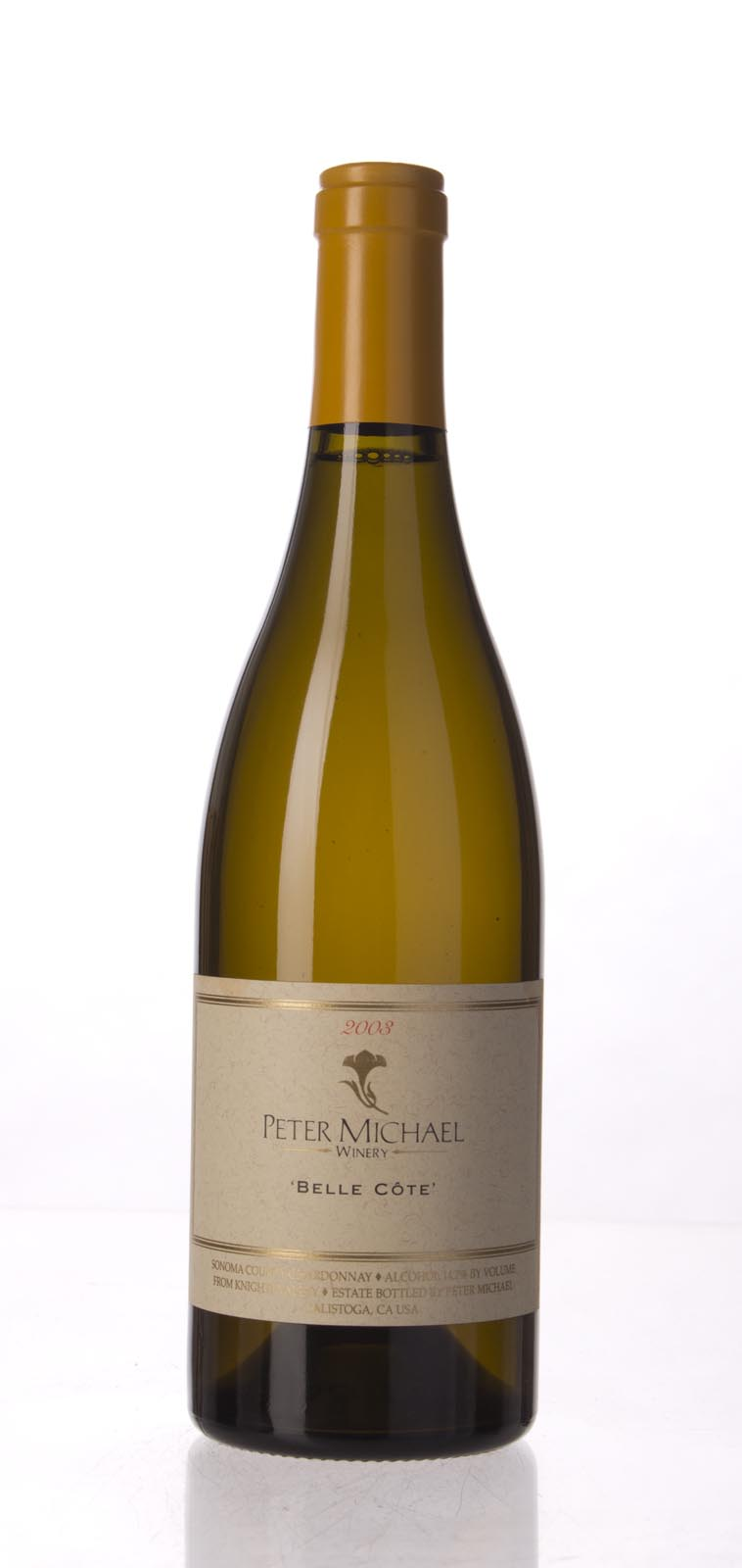 Peter Michael Winery Chardonnay Belle Cote 2003, 750mL (WA94) from The BPW - Merchants of rare and fine wines.
