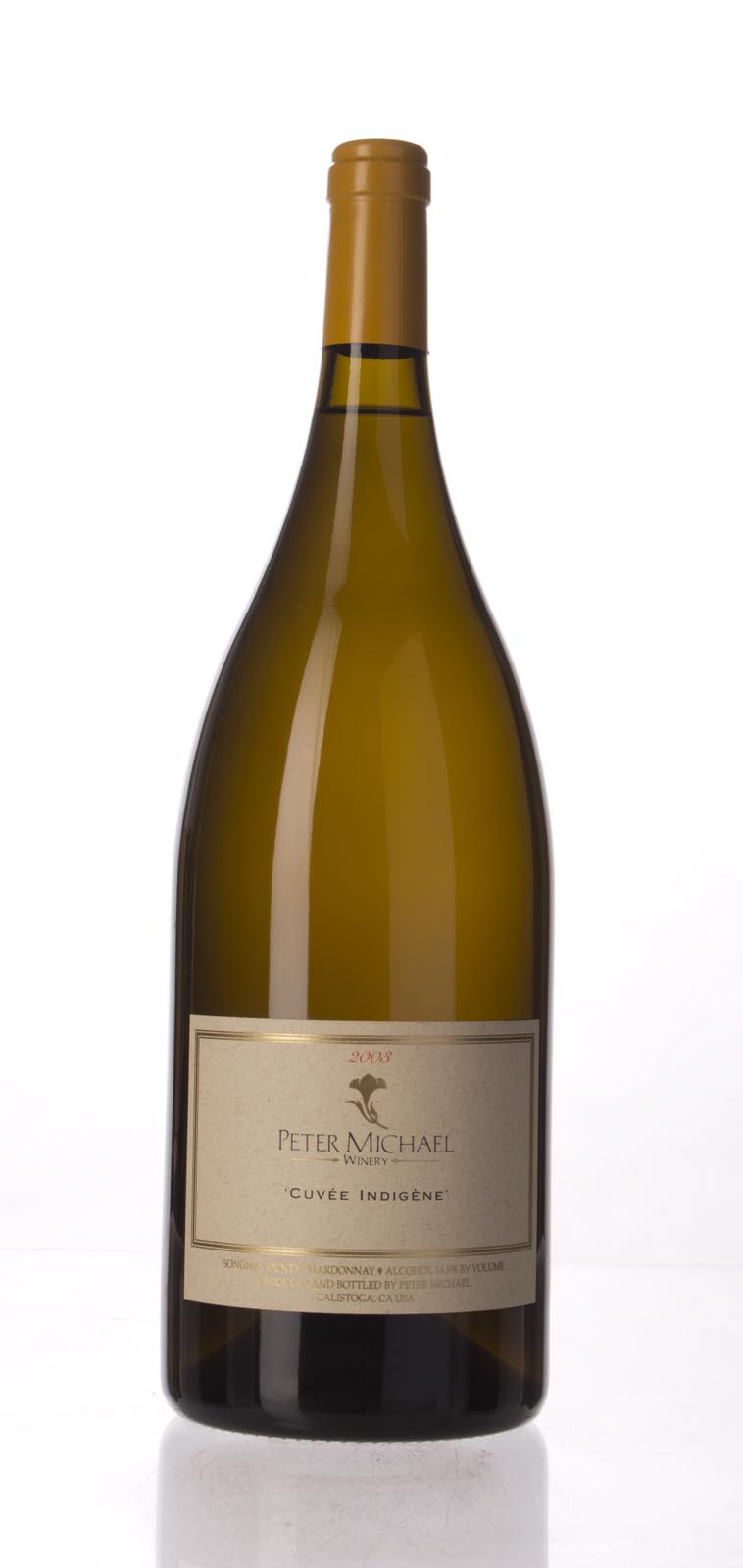 Peter Michael Winery Chardonnay Cuvee Indigene 2003, 1.5L (WA95, ST95) from The BPW - Merchants of rare and fine wines.