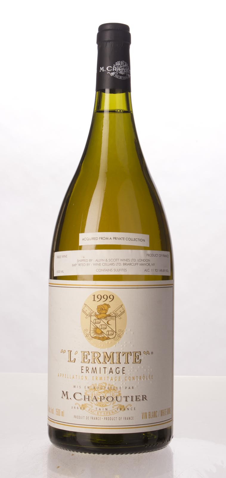 Chapoutier Ermitage l`Ermite Blanc 1999, 1.5L (WA100) from The BPW - Merchants of rare and fine wines.