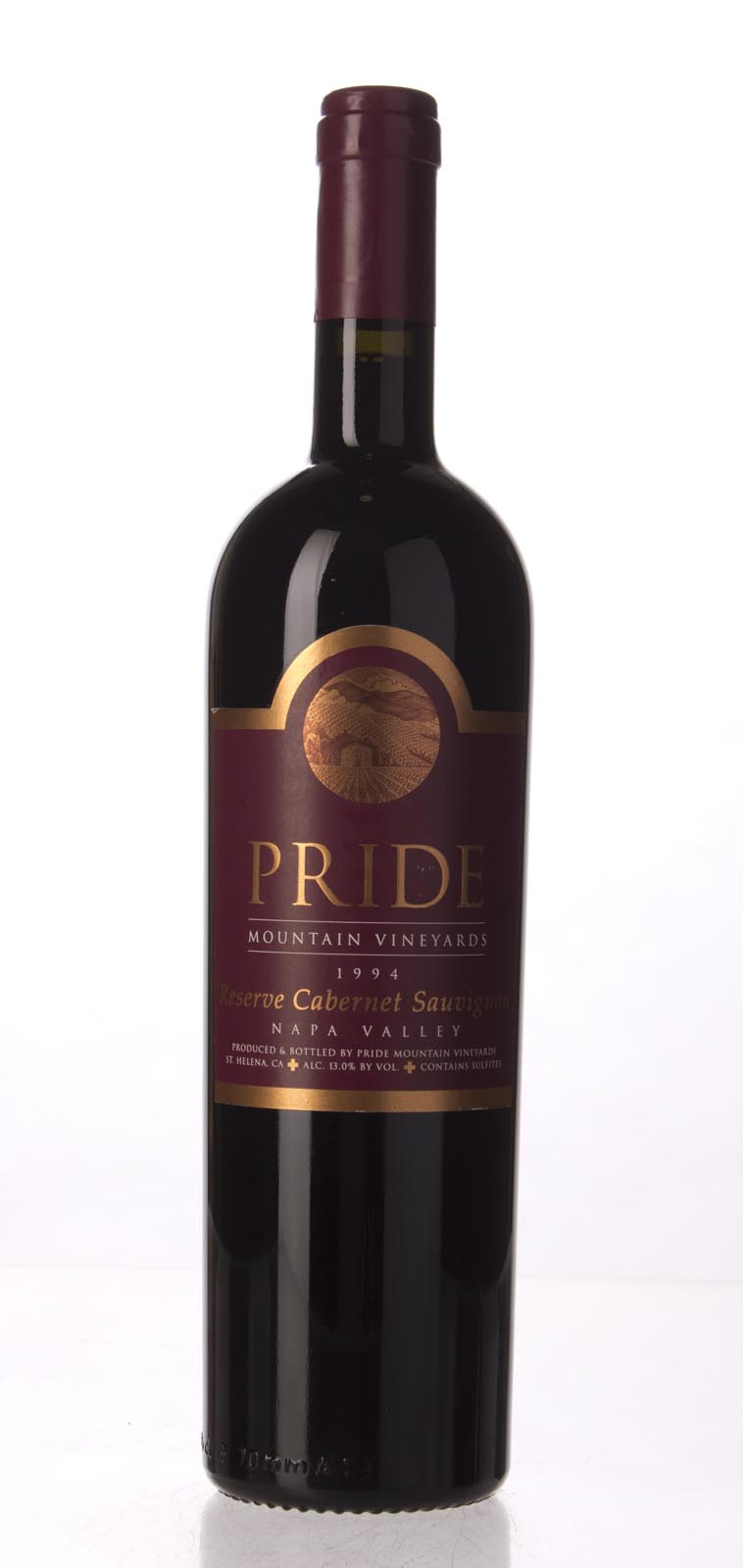 Pride Mountain Vineyards Cabernet Sauvignon Reserve 1994, 750mL (WA95) from The BPW - Merchants of rare and fine wines.