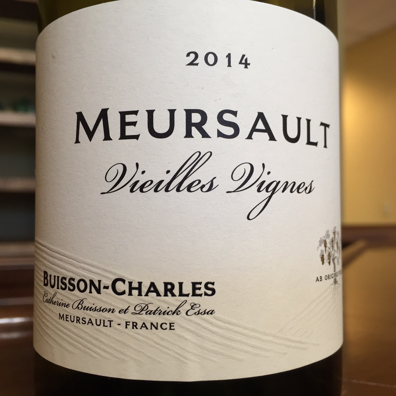 Buisson Charles Meursault Vieilles Vignes 2014,  () from The BPW - Merchants of rare and fine wines.