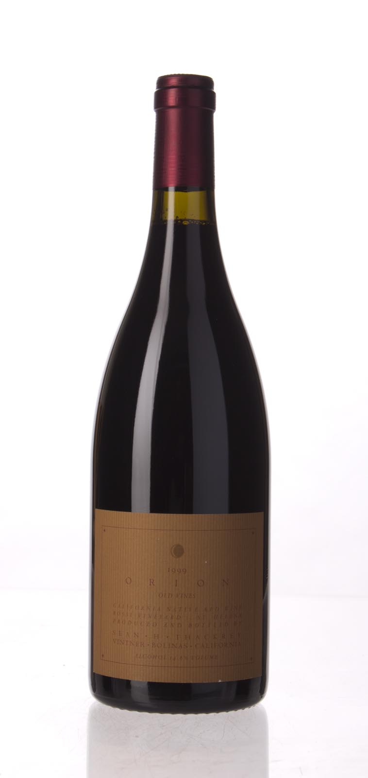 Sean Thackrey Syrah Orion 1999, 750mL () from The BPW - Merchants of rare and fine wines.
