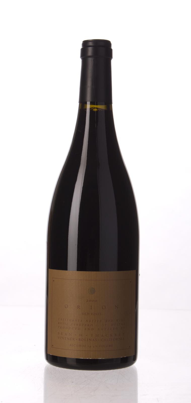 Sean Thackrey Syrah Orion 2000, 750mL (WA95) from The BPW - Merchants of rare and fine wines.