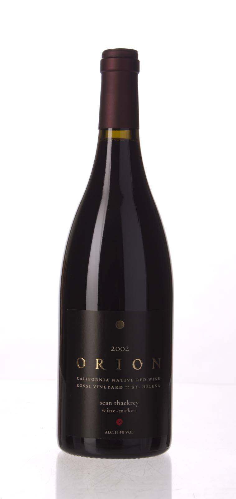 Sean Thackrey Syrah Orion 2002, 750mL (WA96-100) from The BPW - Merchants of rare and fine wines.