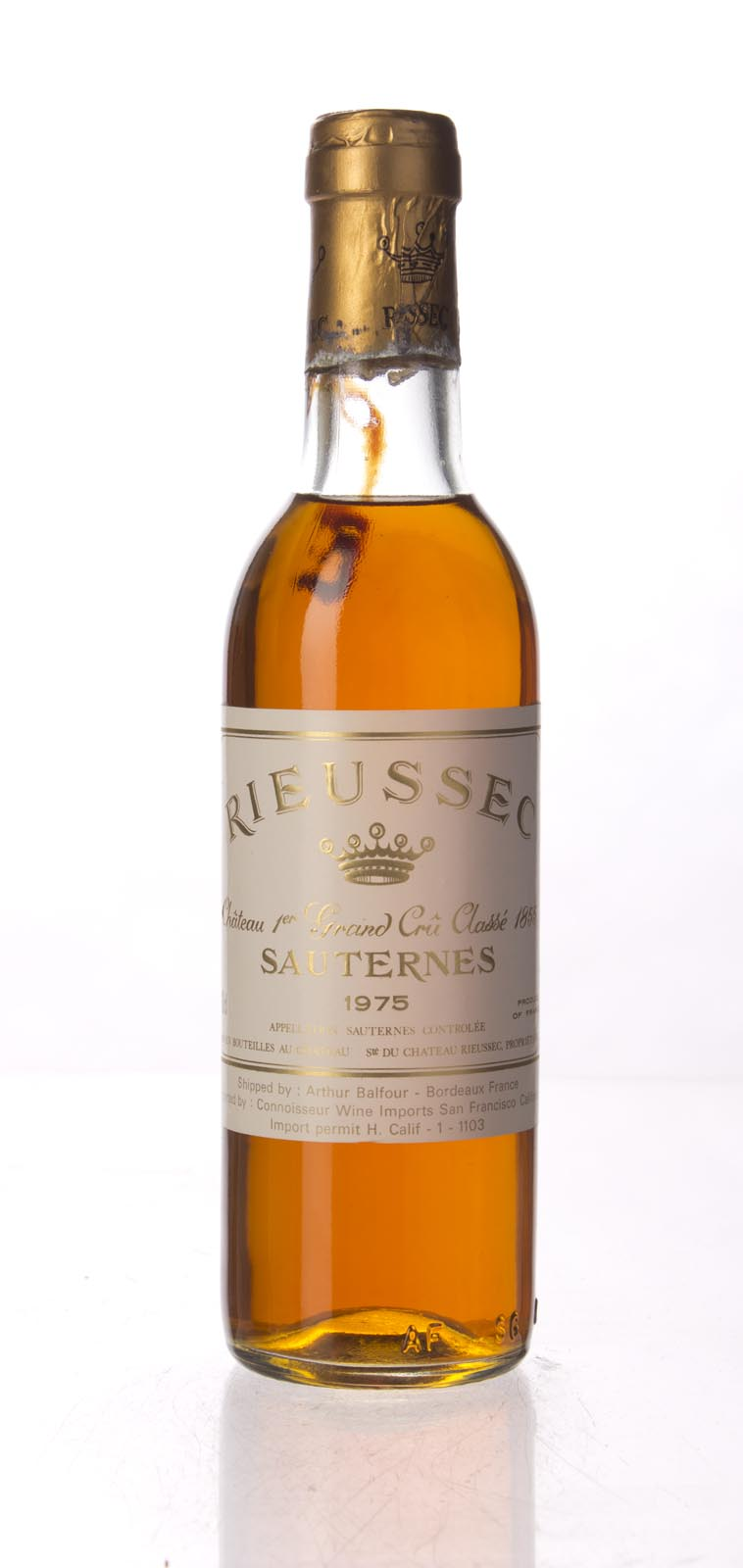 Rieussec 1975, 375ml (WA90) from The BPW - Merchants of rare and fine wines.