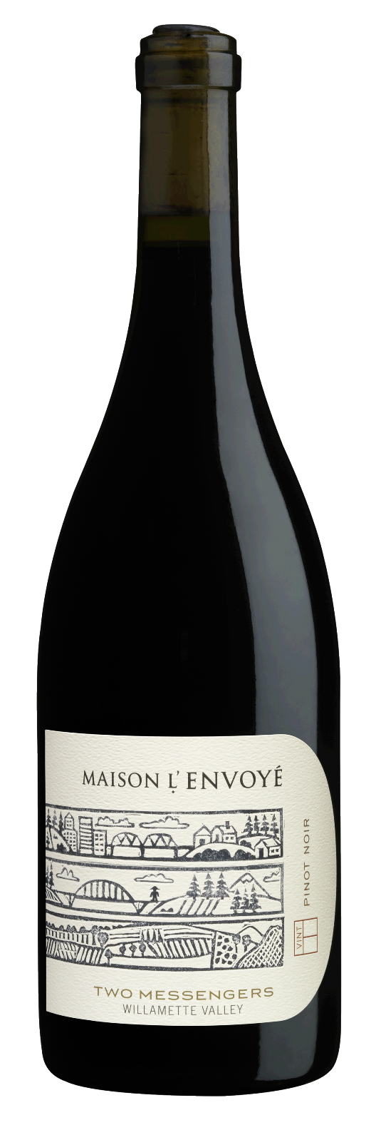 Maison L'Envoye Two Messengers Pinot Noir Willamette Valley 2012,  () from The BPW - Merchants of rare and fine wines.
