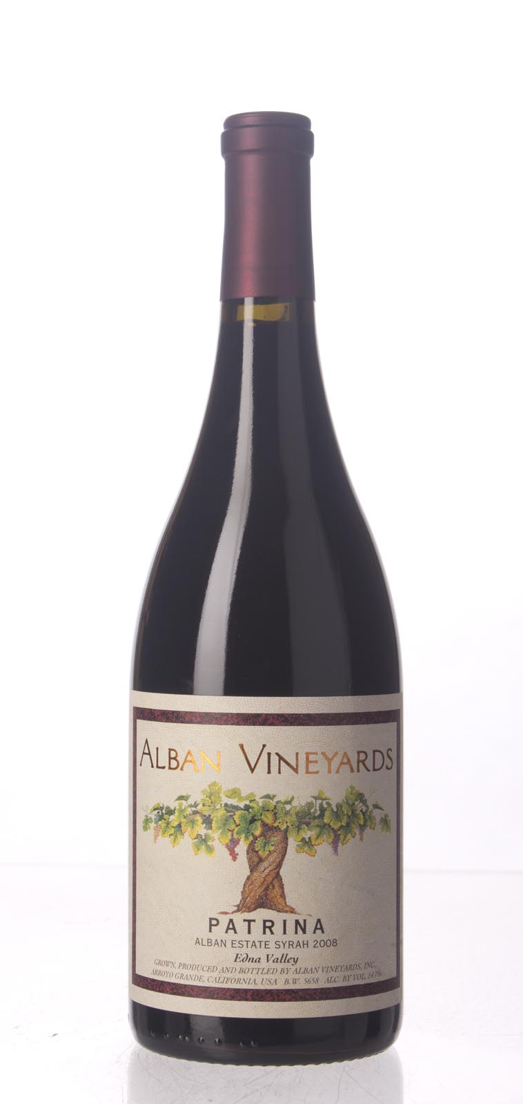 Alban Vineyards Syrah Patrina Alban Estate Vineyard 2008, 750mL () from The BPW - Merchants of rare and fine wines.