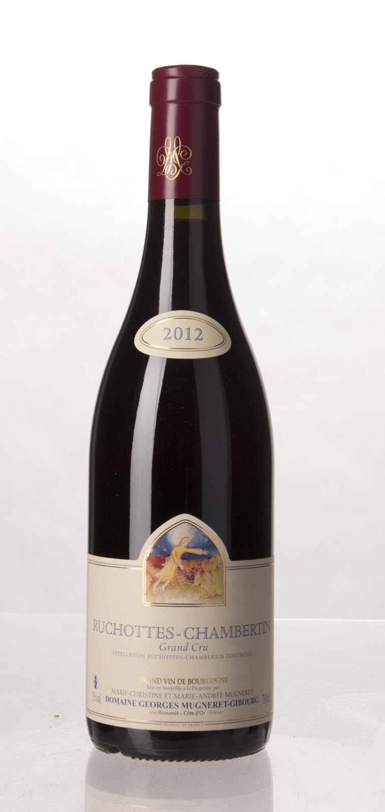 Domaine Georges Mugneret Gibourg Ruchottes Chambertin 2012, 750mL (WA98) from The BPW - Merchants of rare and fine wines.