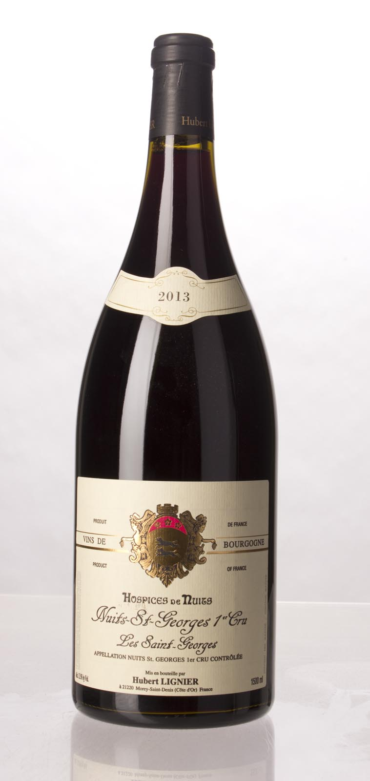 Domaine Hubert Lignier Nuits St. Georges les St. Georges Hospices de Nuits 2013, 1.5L () from The BPW - Merchants of rare and fine wines.