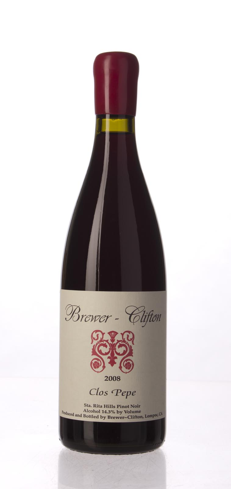 Brewer Clifton Pinot Noir Clos Pepe Vineyard 2008, 750mL (WA93) from The BPW - Merchants of rare and fine wines.