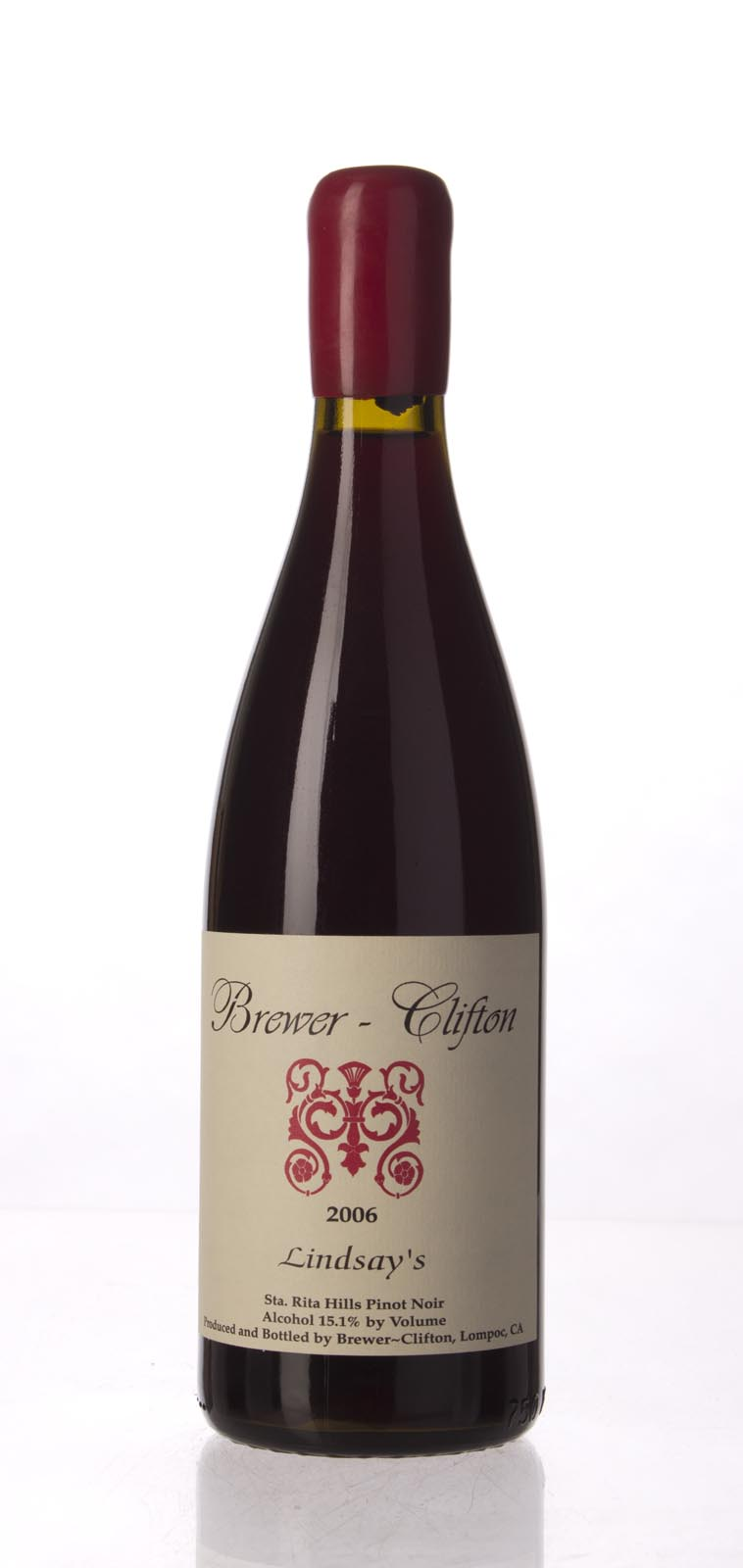 Brewer Clifton Pinot Noir Lindsay`s Vineyard 2006, 750mL (WA90+) from The BPW - Merchants of rare and fine wines.