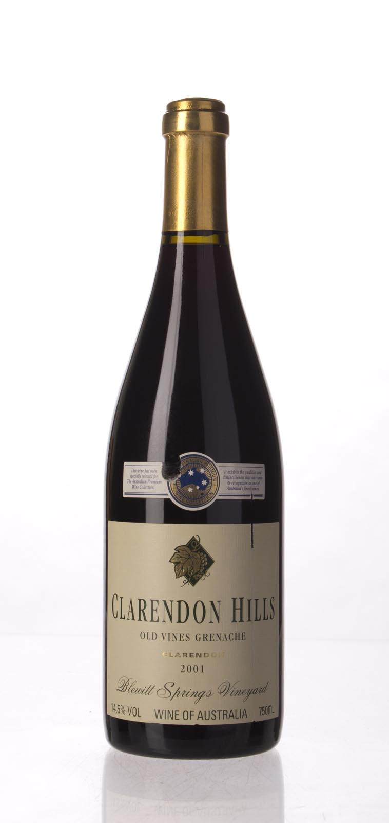 Clarendon Hills Grenache Old Vine Blewitt Springs Vineyard 2001, 750mL (WA95, WS93) from The BPW - Merchants of rare and fine wines.