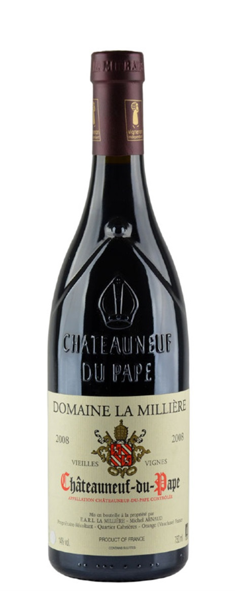 Domaine de la Milliere Chateauneuf du Pape Cuvee Vieilles Vignes 2013, 1.5L () from The BPW - Merchants of rare and fine wines.