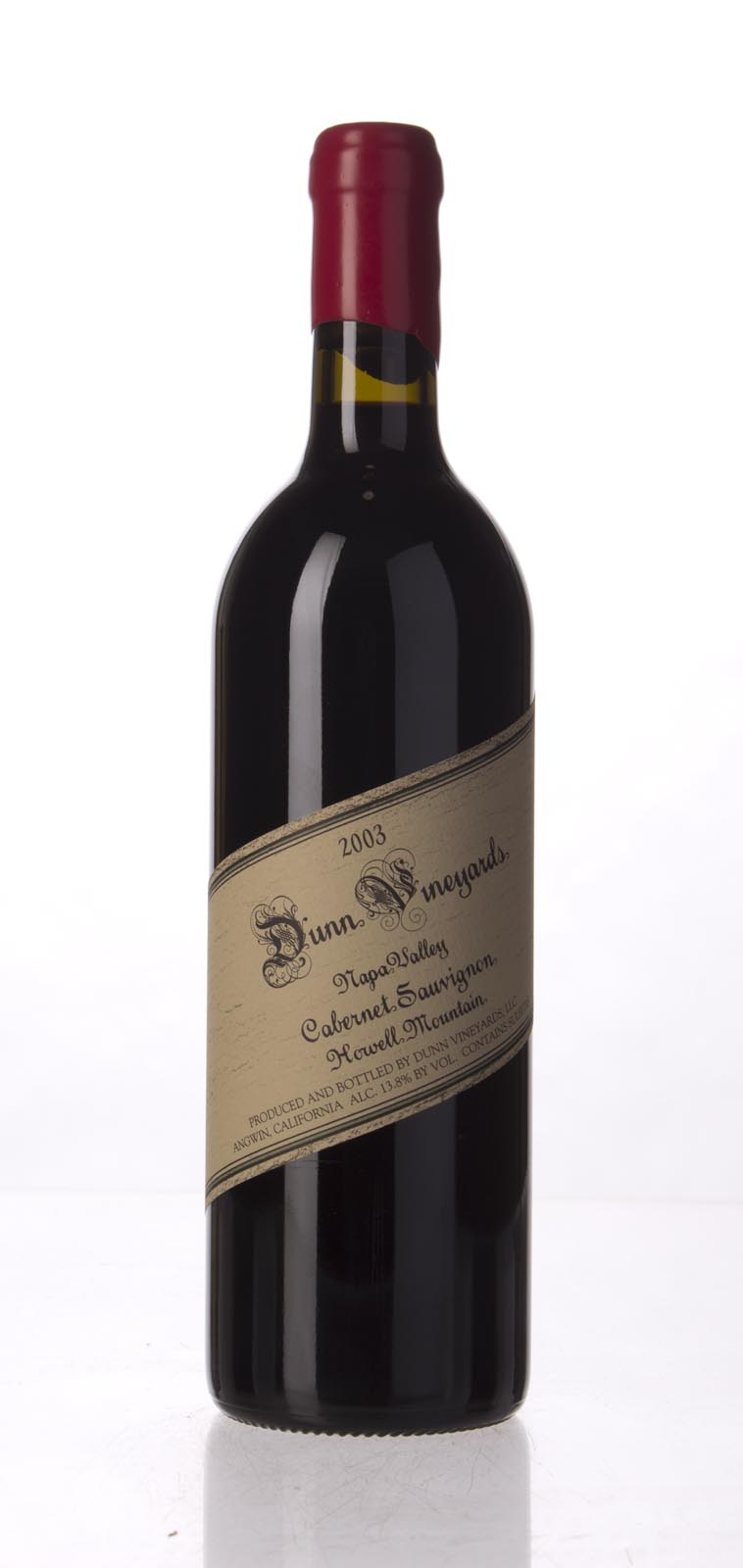 Dunn Cabernet Sauvignon Howell Mountain 2003, 750mL (WA95, ST93) from The BPW - Merchants of rare and fine wines.