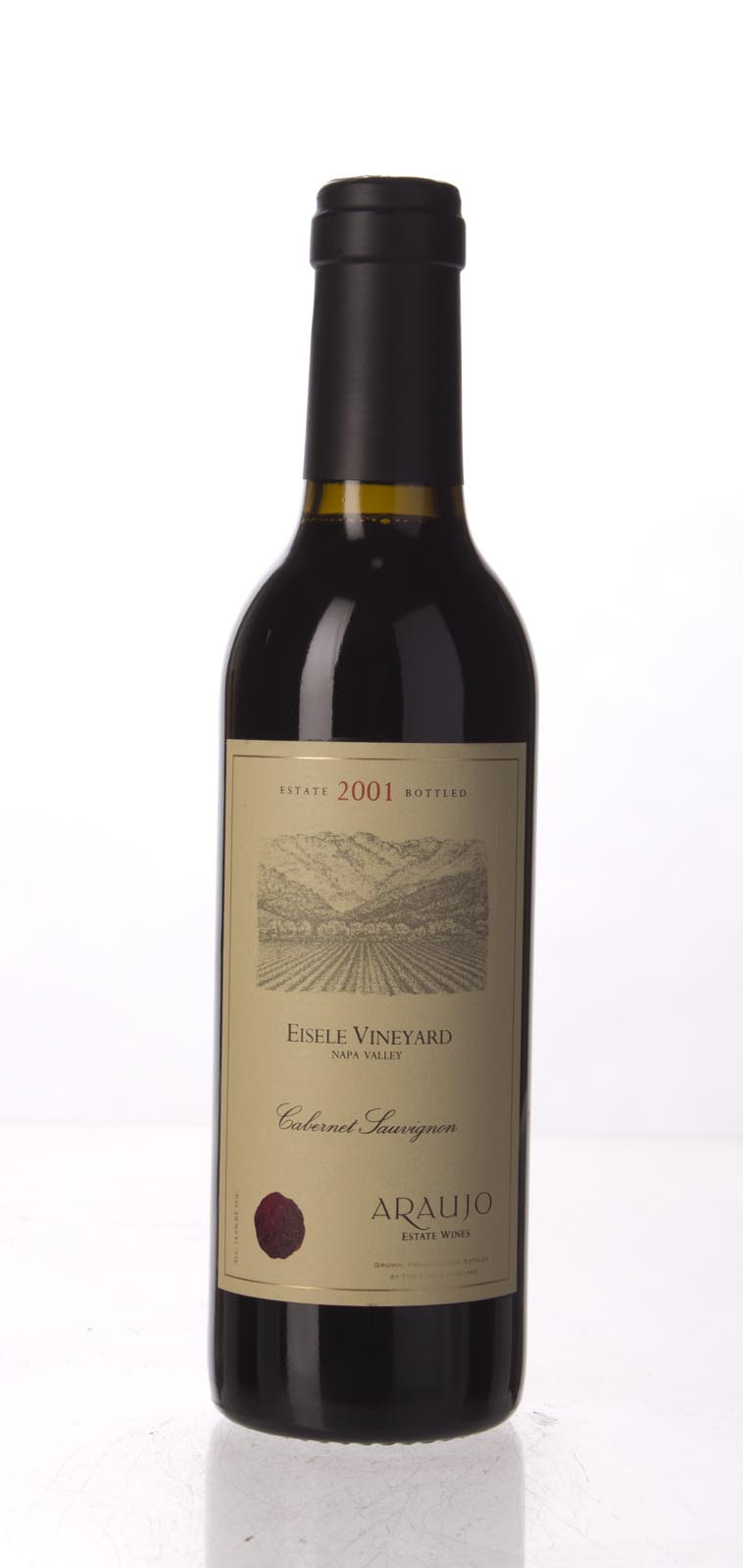 Araujo Estate Cabernet Sauvignon Eisele Vineyard 2001, 375mL (WA99) from The BPW - Merchants of rare and fine wines.