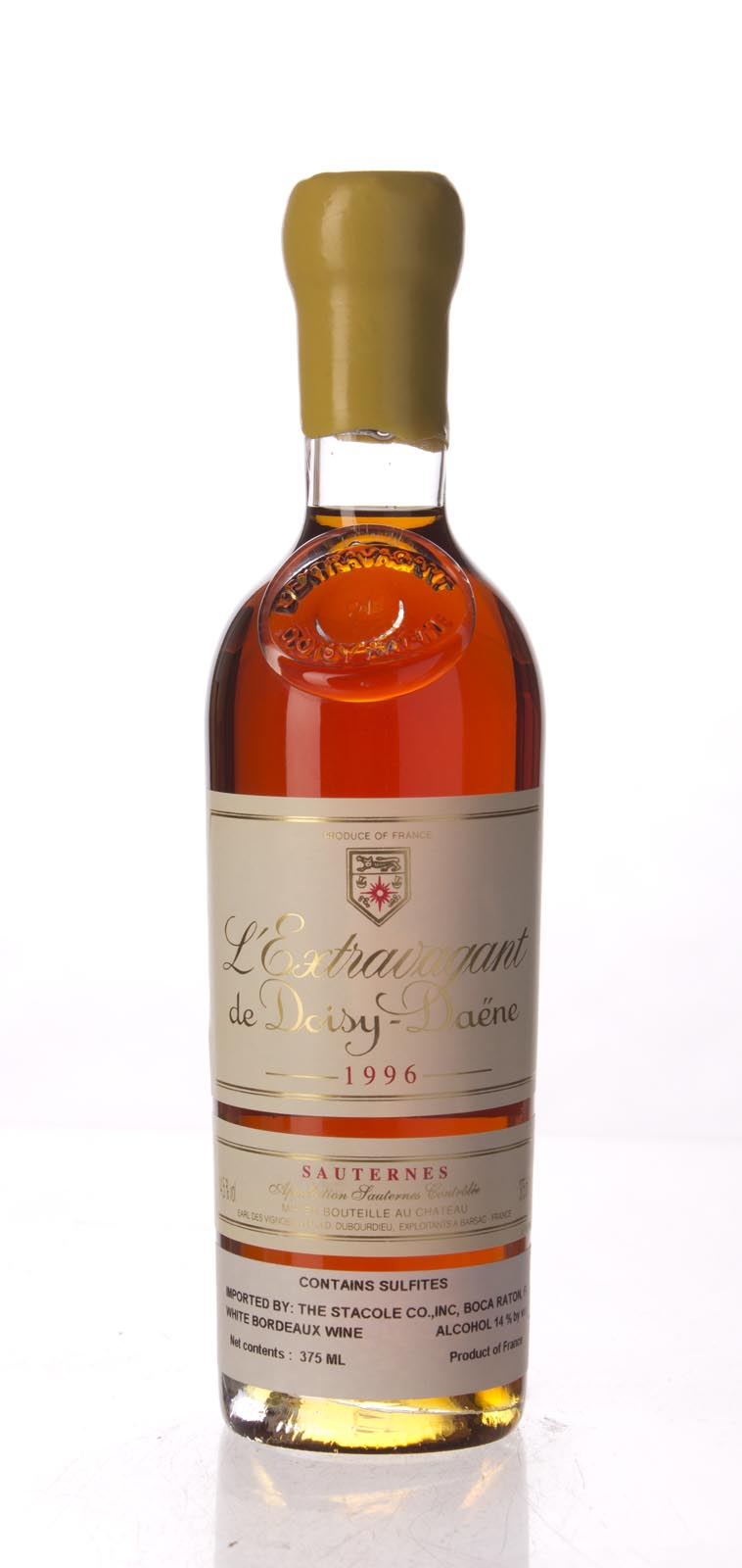 Doisy Daene L`Extravagant 1996, 375mL (WA98) from The BPW - Merchants of rare and fine wines.