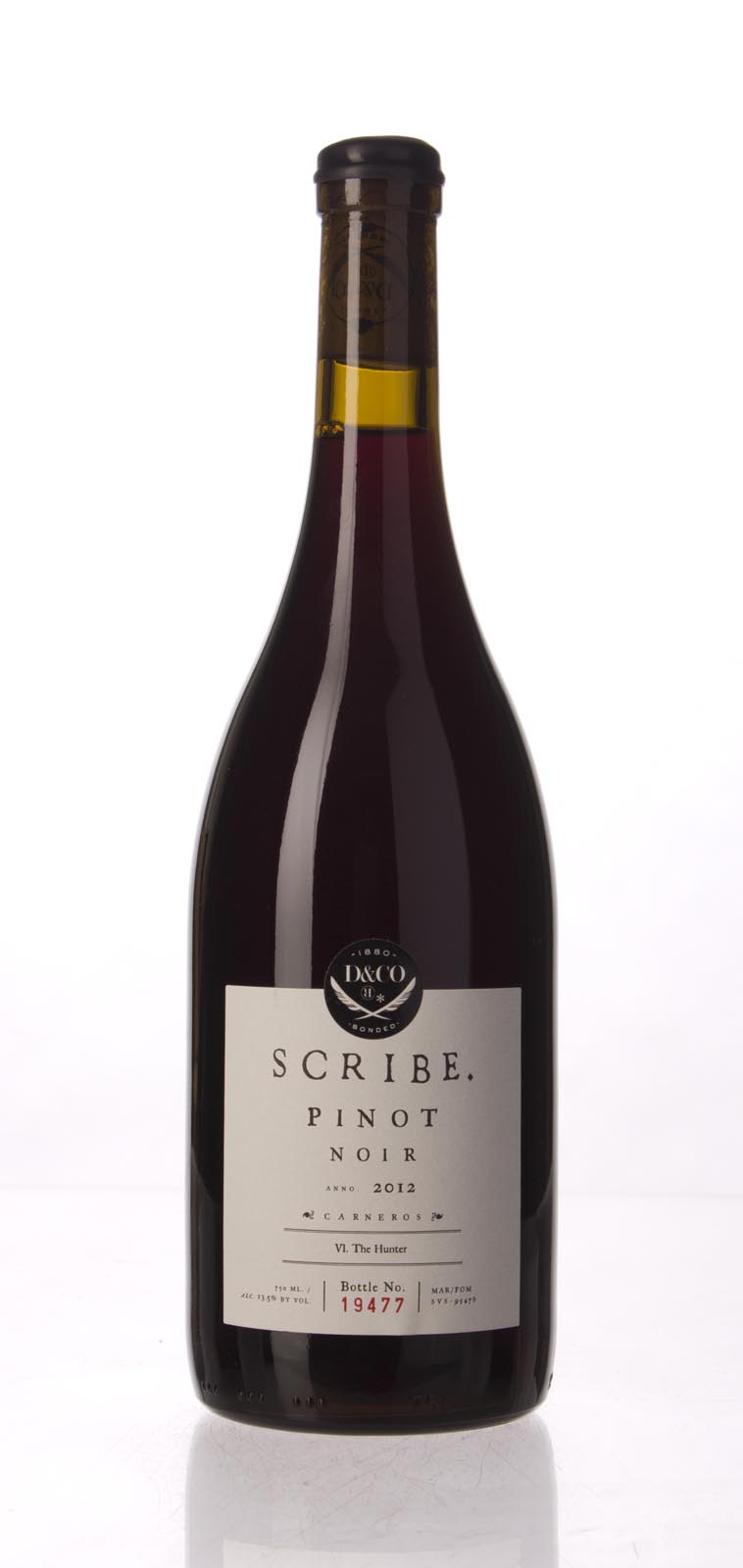 Scribe Pinot Noir Hunter 2012, 750ml () from The BPW - Merchants of rare and fine wines.