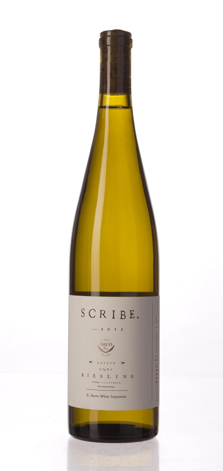 Scribe Riesling Arrowhead Slope 2012, 750mL () from The BPW - Merchants of rare and fine wines.