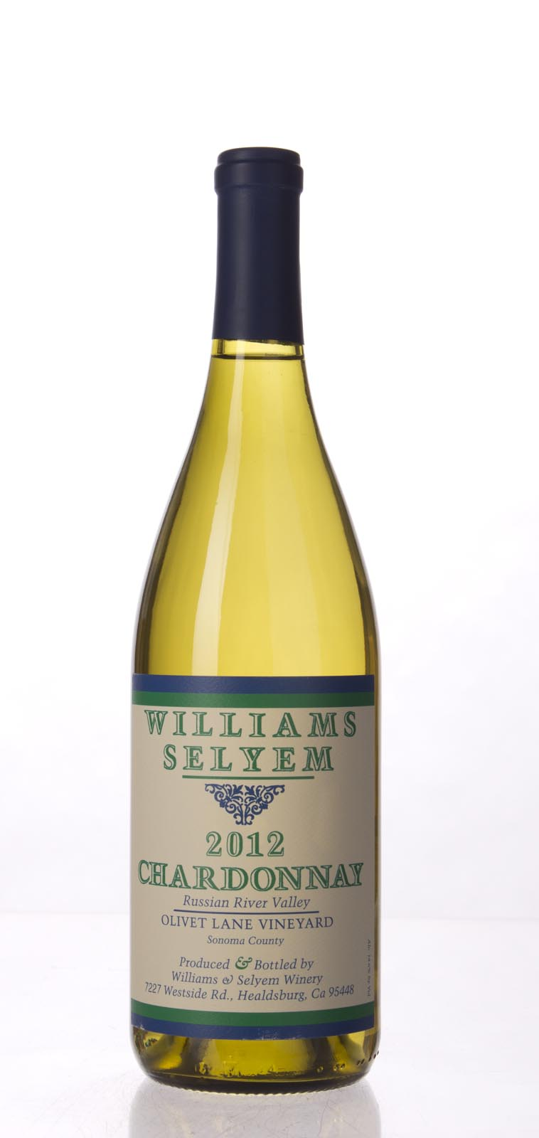 Williams Selyem Chardonnay Olivet Lane 2012, 750mL (WA91, ST92) from The BPW - Merchants of rare and fine wines.