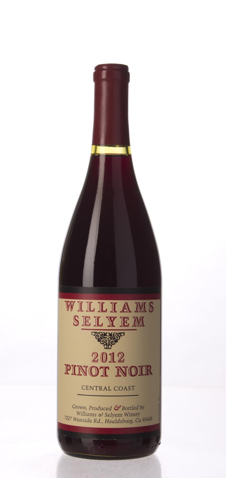Williams Selyem Pinot Noir Central Coast 2012, 750mL (ST92) from The BPW - Merchants of rare and fine wines.