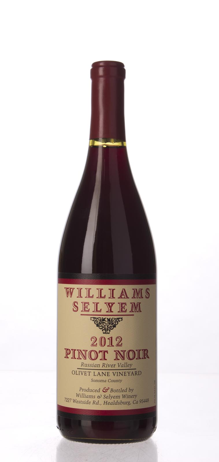 Williams Selyem Pinot Noir Olivet Lane 2012, 750mL (ST93) from The BPW - Merchants of rare and fine wines.