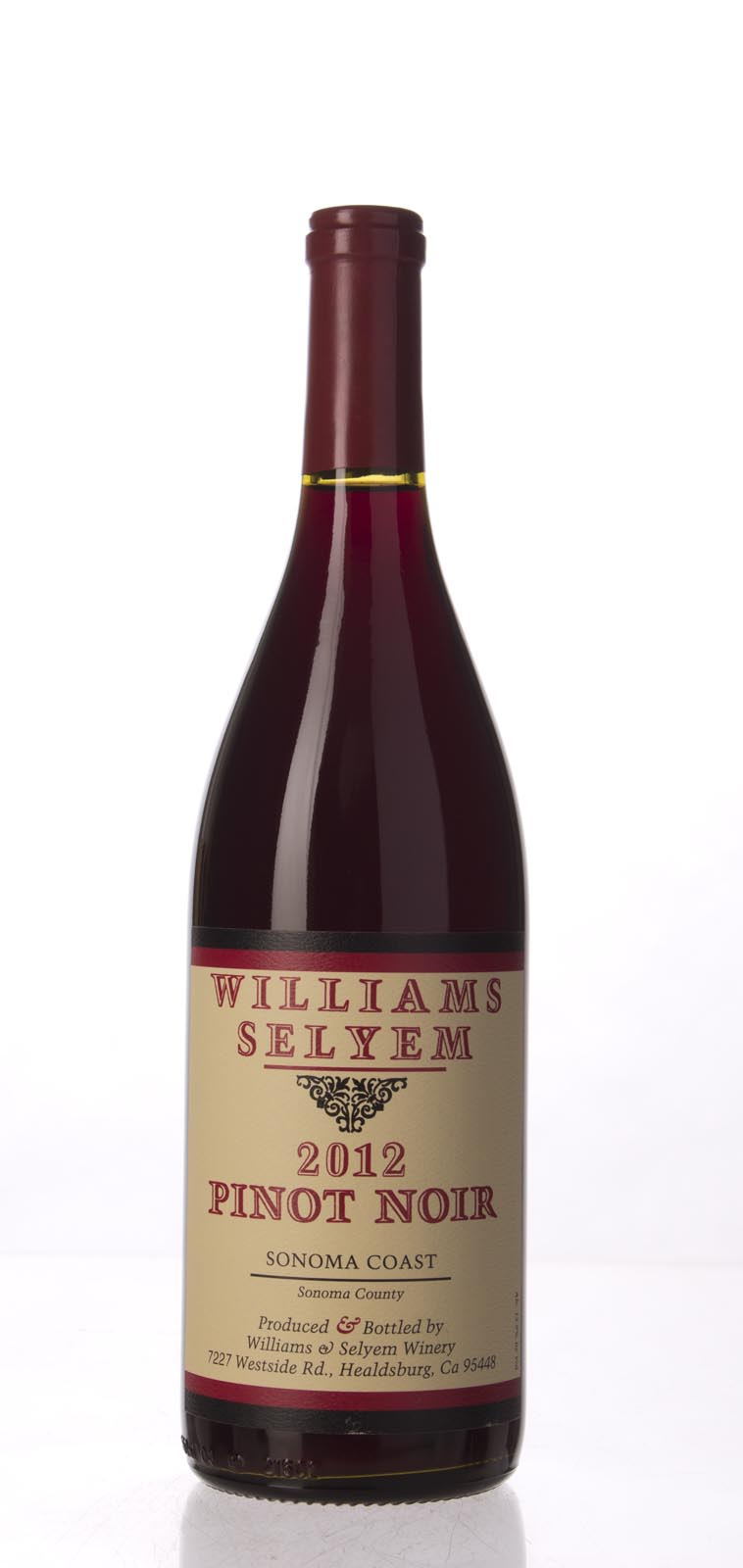 Williams Selyem Pinot Noir Sonoma Coast 2012, 750mL (ST91) from The BPW - Merchants of rare and fine wines.