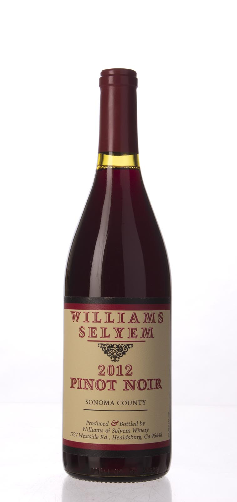 Williams Selyem Pinot Noir Sonoma County 2012, 750mL (ST90) from The BPW - Merchants of rare and fine wines.