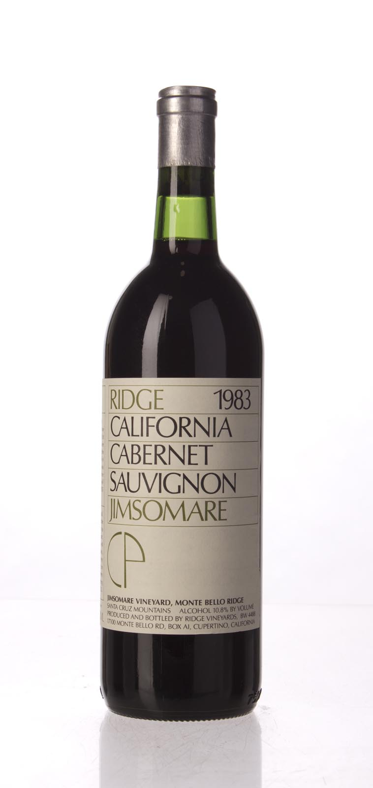 Ridge Cabernet Sauvignon Jimsomare 1983,  () from The BPW - Merchants of rare and fine wines.