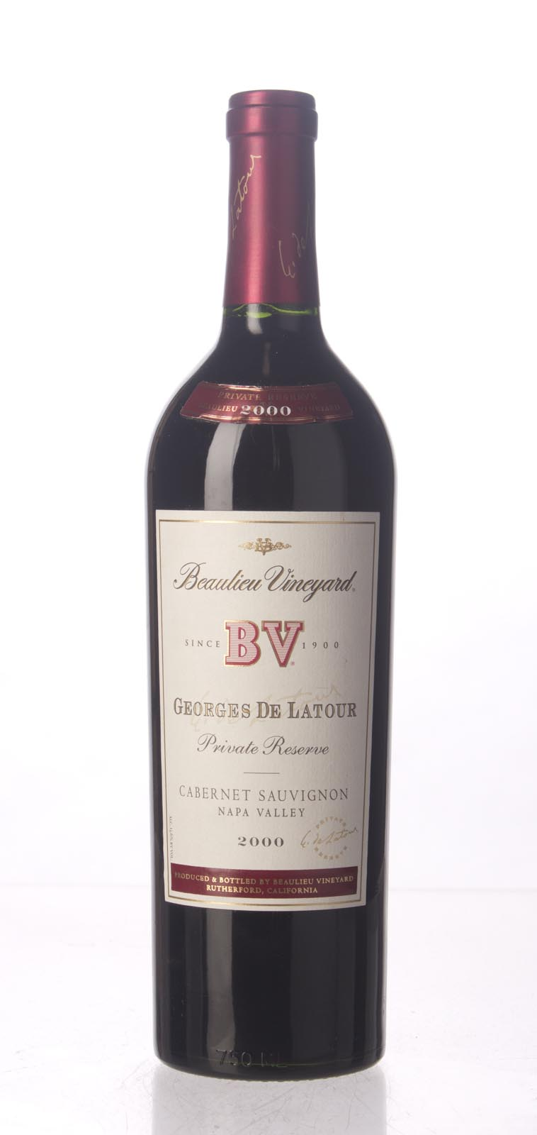 Beaulieu Vineyard Cabernet Sauvignon Private Reserve Georges de Latour 2000, 750mL (WS92-94) from The BPW - Merchants of rare and fine wines.