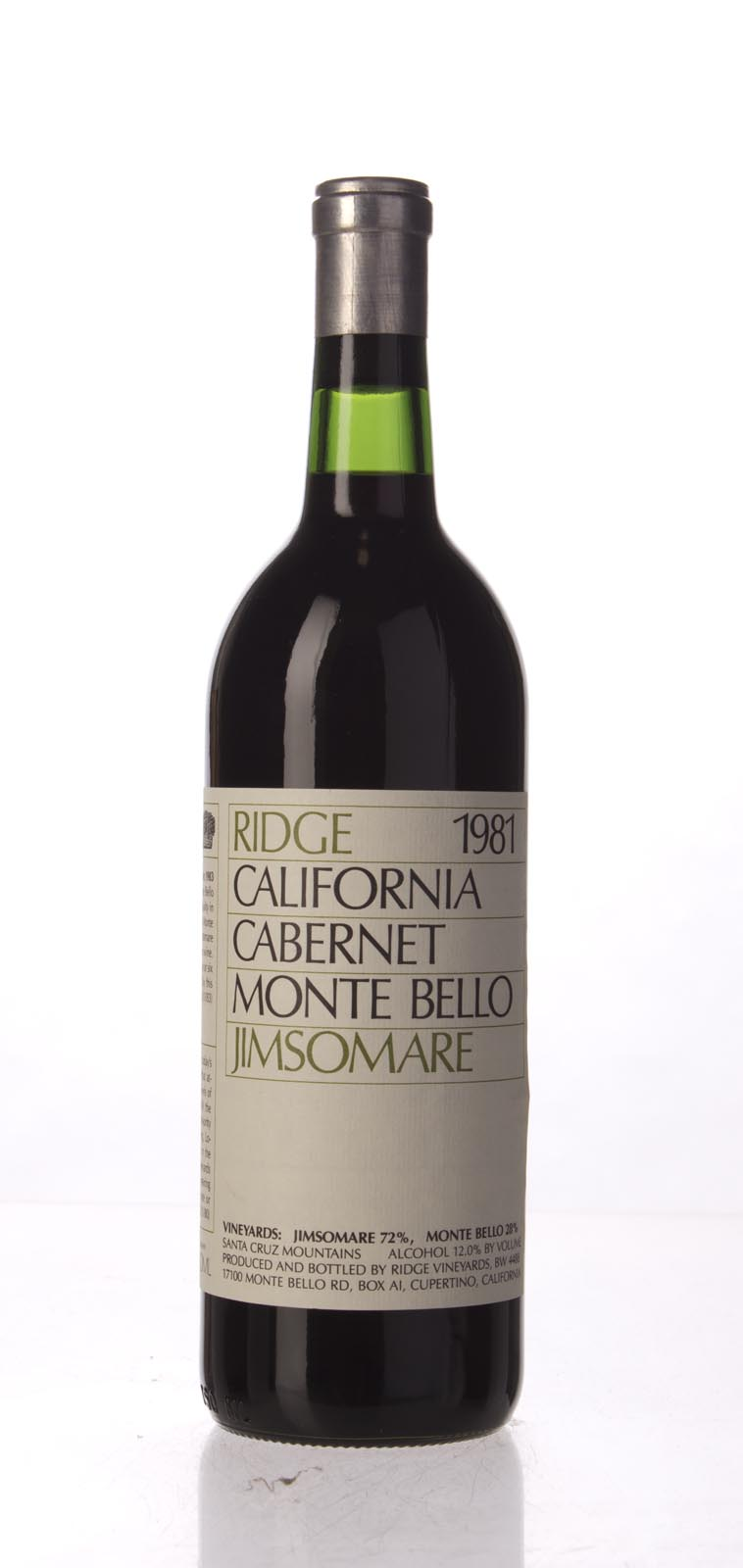 Ridge Cabernet Sauvignon Monte Bello / Jimsomare 1981,  () from The BPW - Merchants of rare and fine wines.