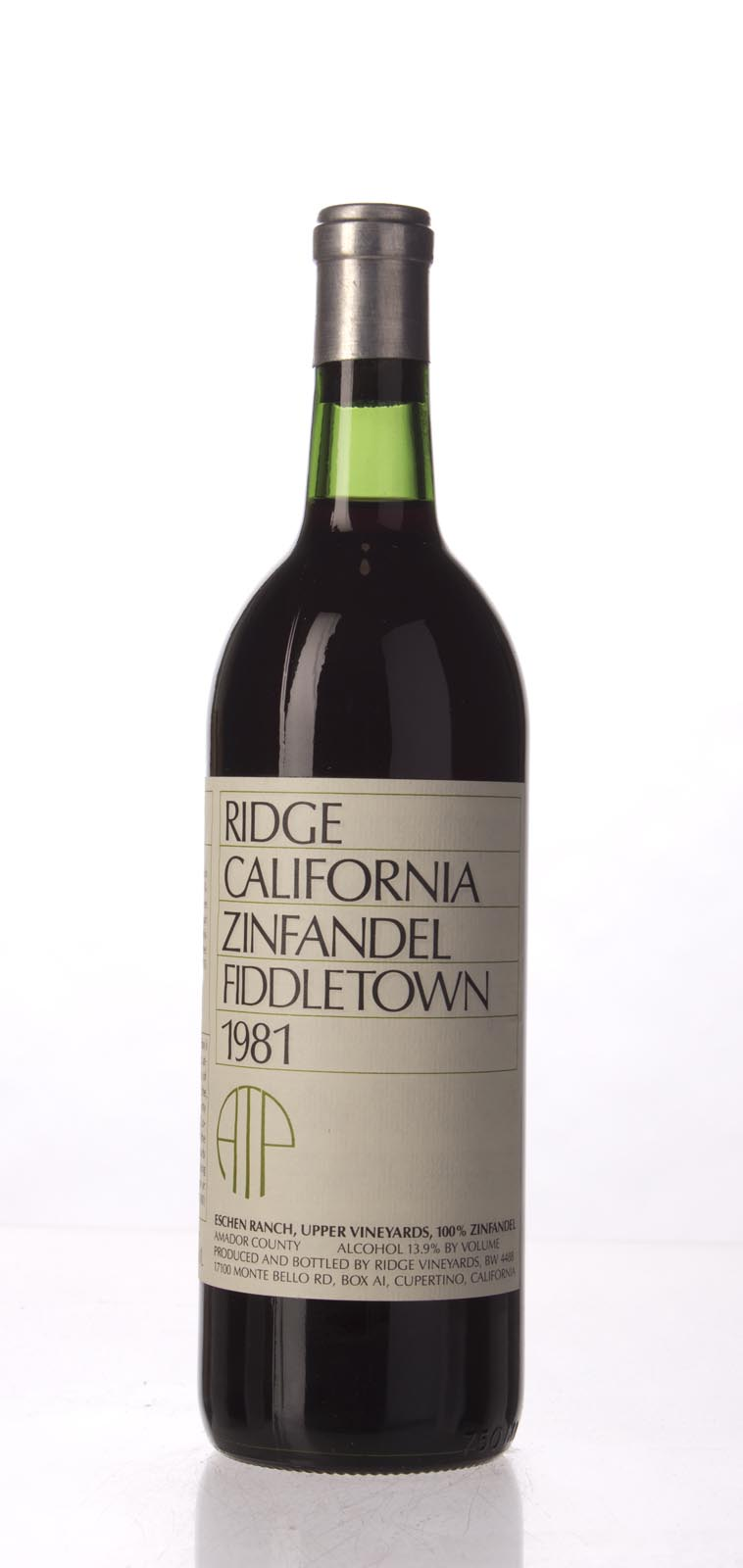 Ridge Proprietary Red Fiddletown 1981,  () from The BPW - Merchants of rare and fine wines.