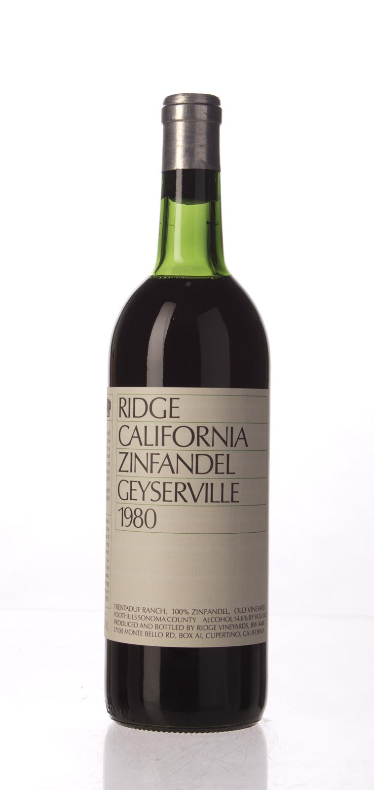 Ridge Proprietary Red Geyserville 1980, 750mL () from The BPW - Merchants of rare and fine wines.
