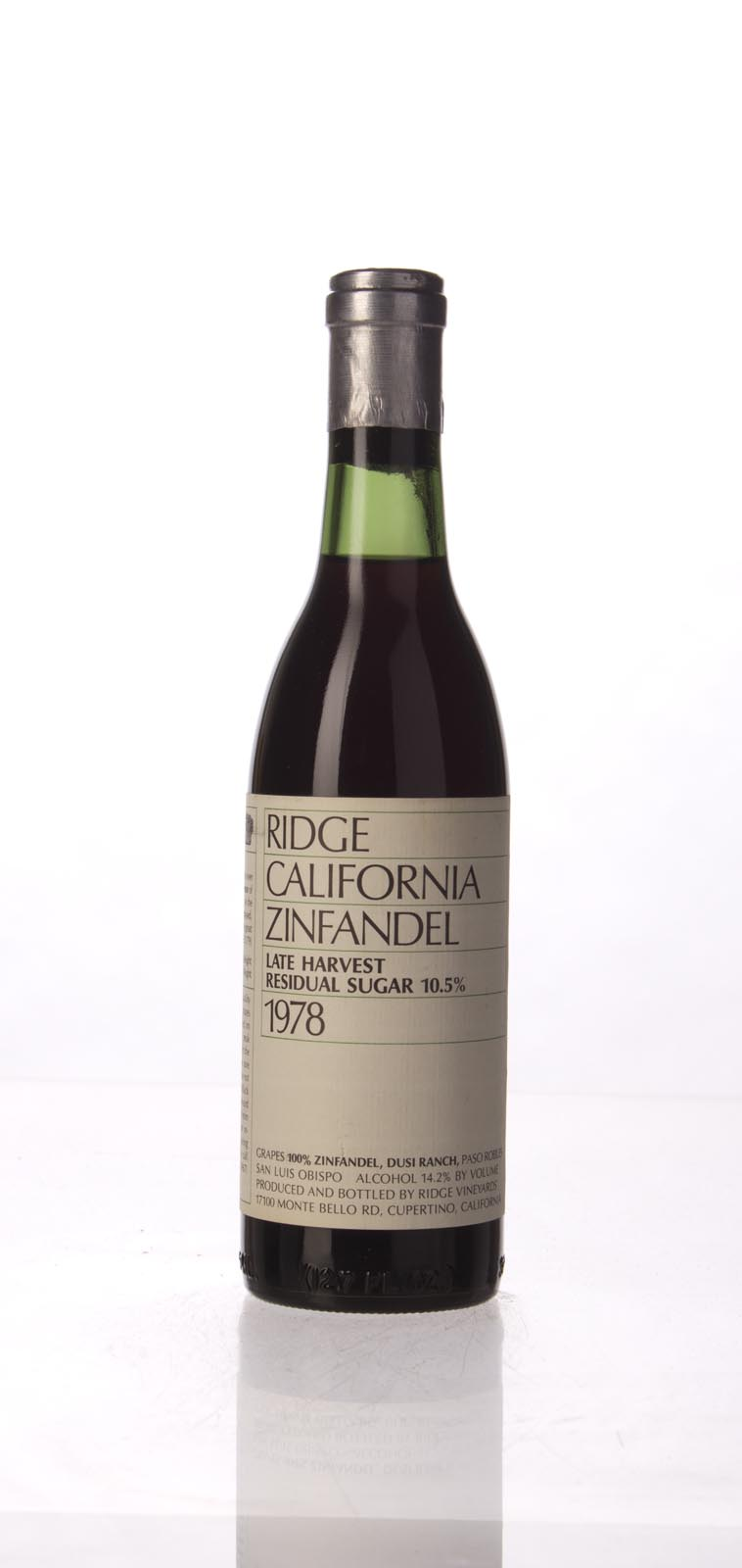 Ridge Zinfandel Dusi Ranch Late Harvest 1978, 375mL () from The BPW - Merchants of rare and fine wines.