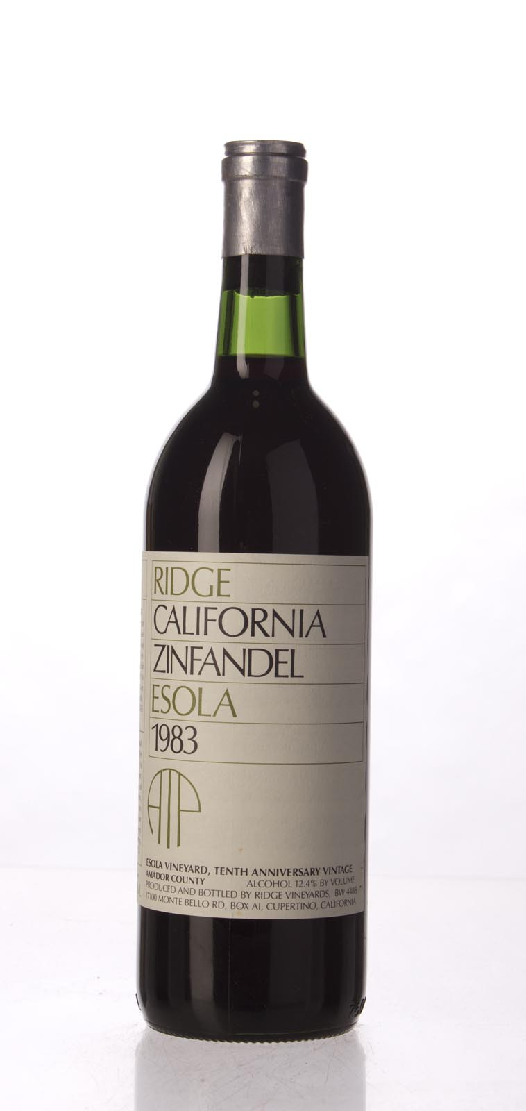 Ridge Zinfandel Esola Vineyard 1983, 750mL () from The BPW - Merchants of rare and fine wines.