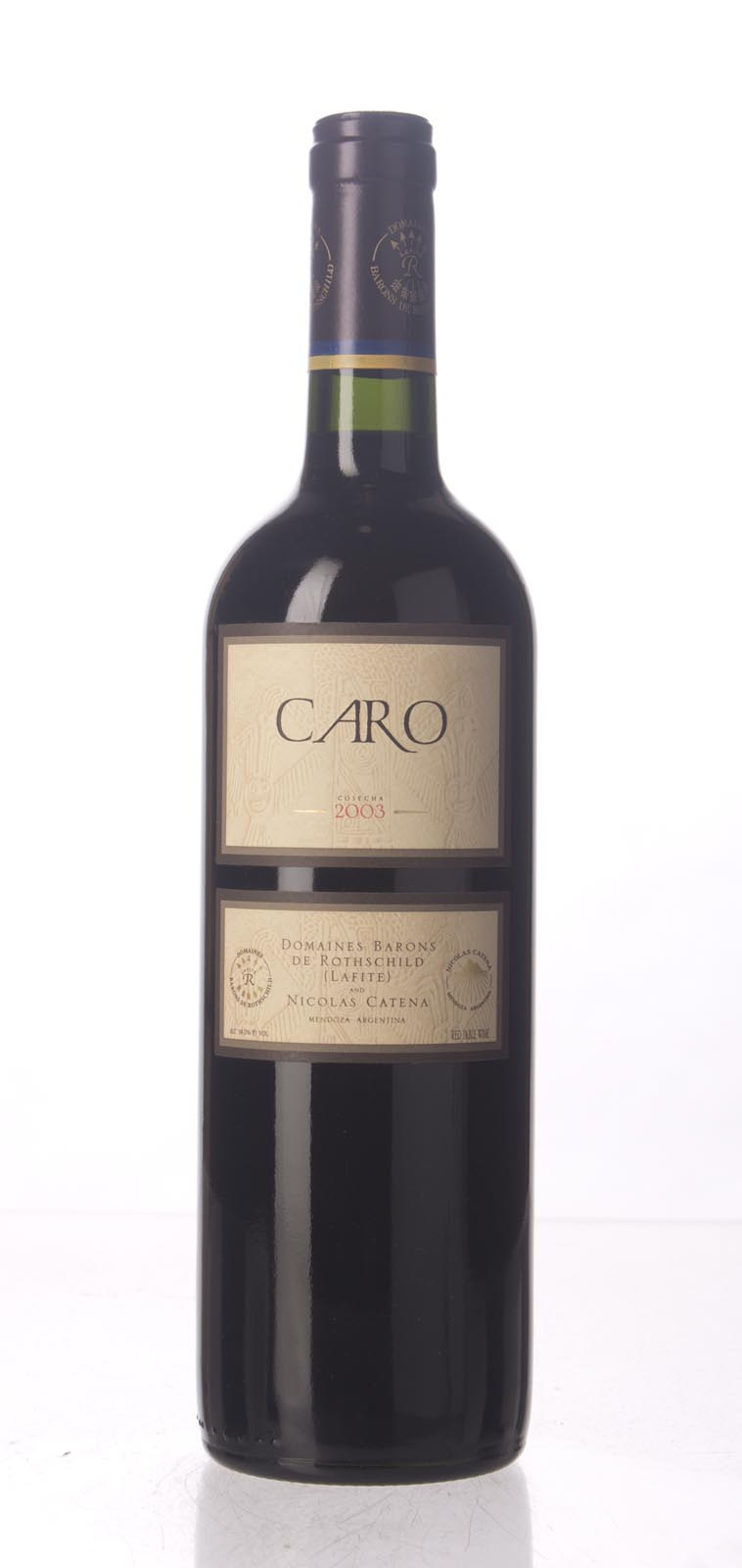 Bodegas Caro Proprietary Red 2003, 750mL (WS90) from The BPW - Merchants of rare and fine wines.