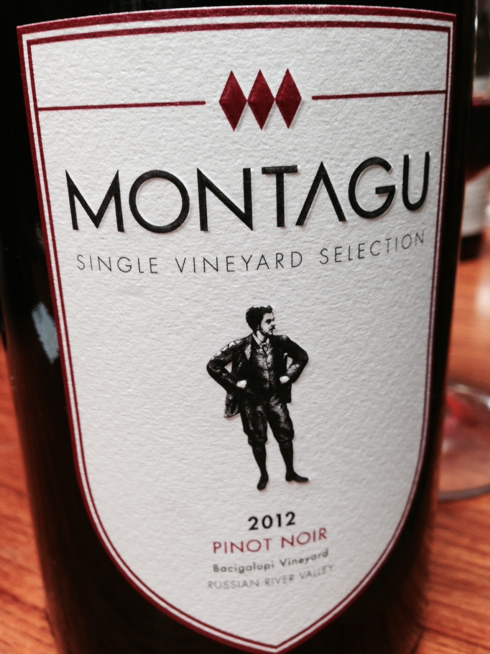 Montagu Pinot Noir Bacigalupi Vineyard 2012,  () from The BPW - Merchants of rare and fine wines.