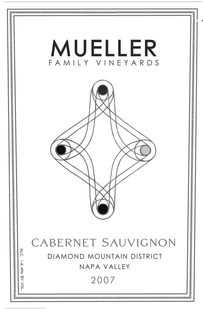 Mueller Family Cabernet Sauvignon Diamond Mountain 2009, 750ml () from The BPW - Merchants of rare and fine wines.