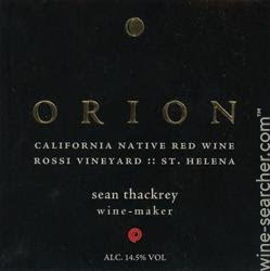 Sean Thackrey Syrah Orion 2011, 1.5L () from The BPW - Merchants of rare and fine wines.