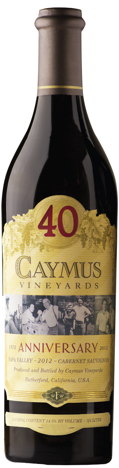 Caymus Cabernet Sauvignon Napa Valley ONE LITER BOTTLE 2012,  (WA96) from The BPW - Merchants of rare and fine wines.