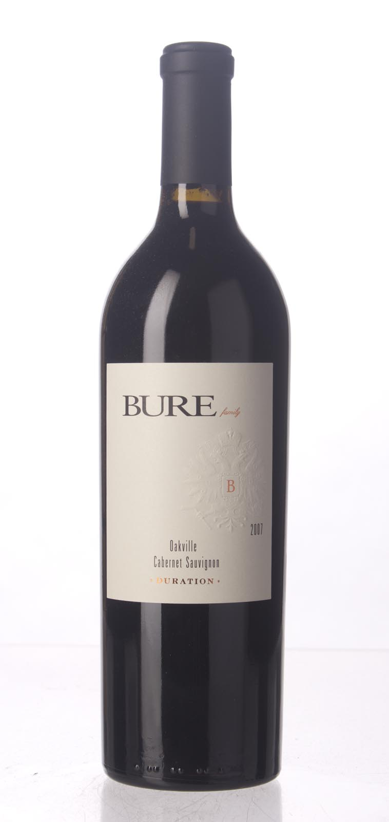 Bure Family Wines Cabernet Sauvignon Duration 2007, 750mL (WA94) from The BPW - Merchants of rare and fine wines.