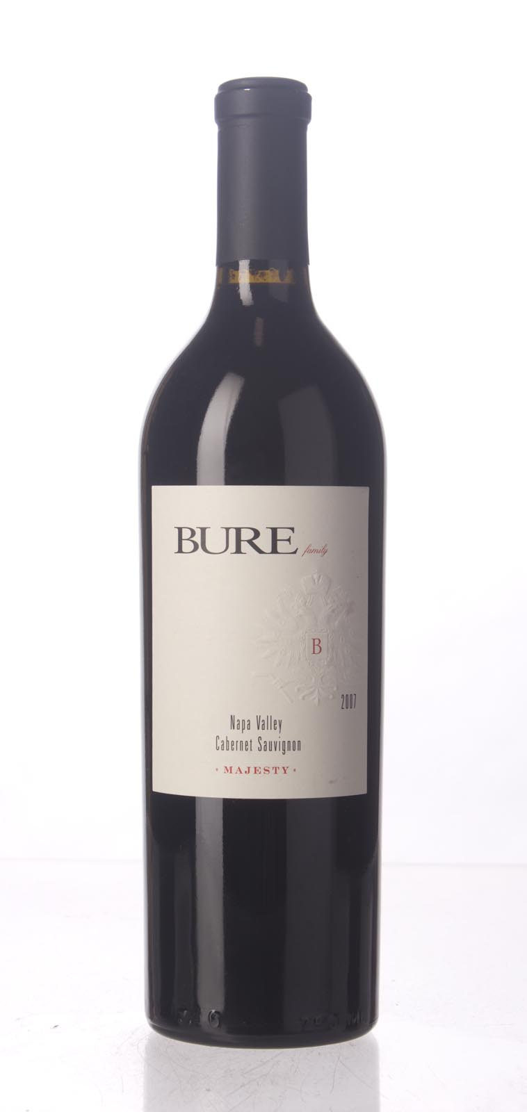 Bure Family Wines Cabernet Sauvignon Majesty 2007, 750mL (WA91, ST90) from The BPW - Merchants of rare and fine wines.
