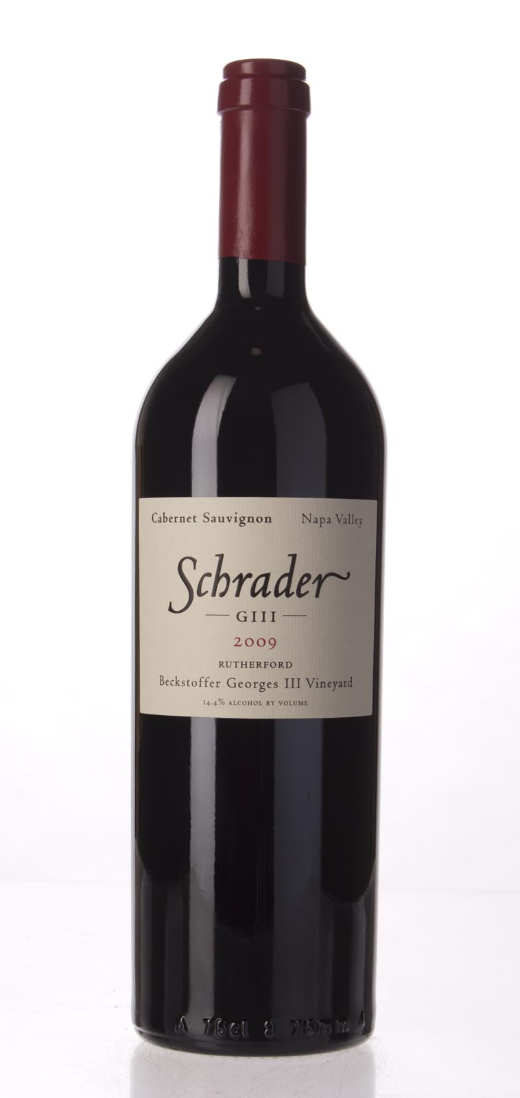 Schrader Cellars Cabernet Sauvignon Beckstoffer George III Vineyard 2009, 750mL (WA95, WS97) from The BPW - Merchants of rare and fine wines.