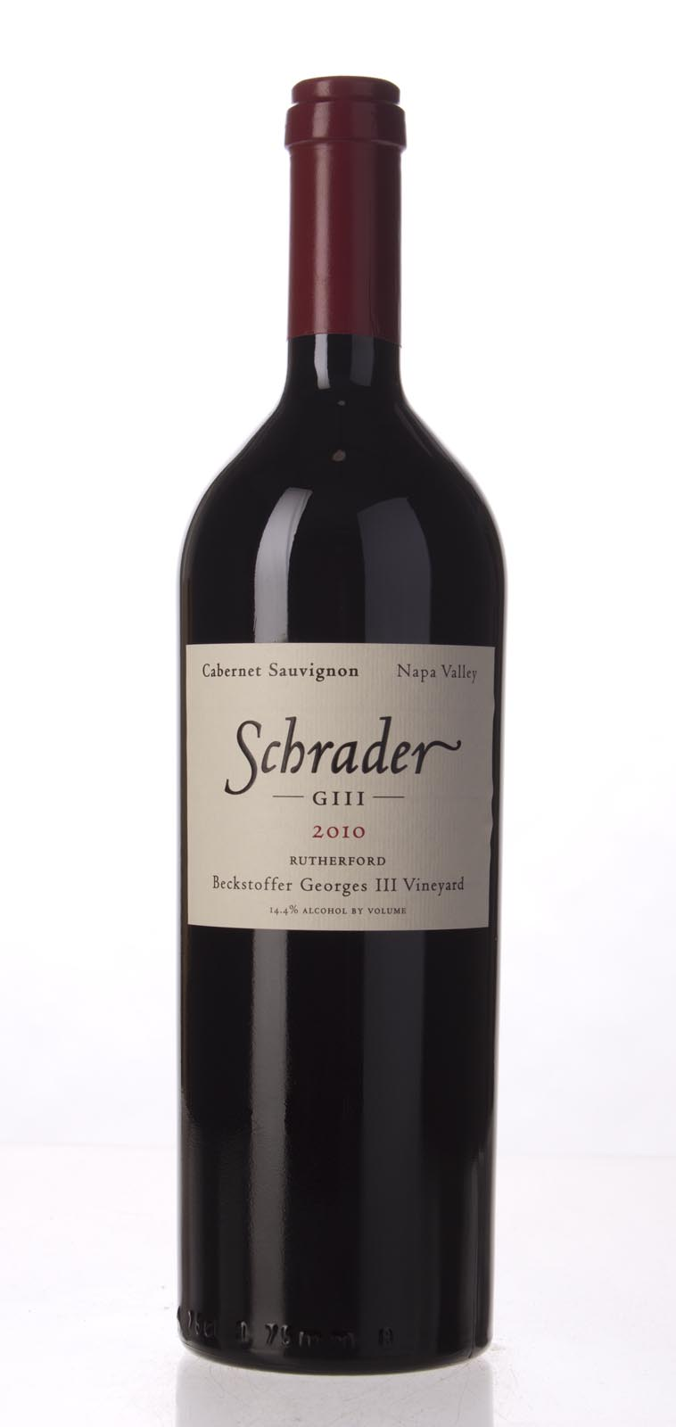 Schrader Cellars Cabernet Sauvignon Beckstoffer George III Vineyard 2010, 750mL (WA96, WS95) from The BPW - Merchants of rare and fine wines.